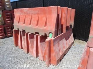 (9) Armorcast Guardian 6' Safety Barriers