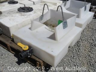 "24"" X 24"" Cement Truck Chute Washout Tank"
