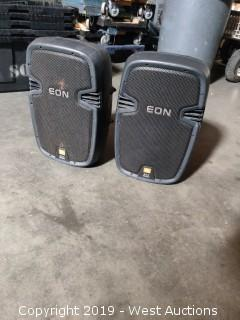 "(2) JBL Eon 510 Powered 10"" Speakers"
