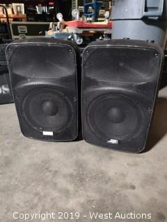 "(2) Stage Right APS12 Powered 12"" Speakers"