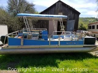 1978 Kayot Pontoon Boat and 1960 Conti Carrier Trailer