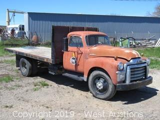 1954 GMC 15' Flatbed Dump Truck