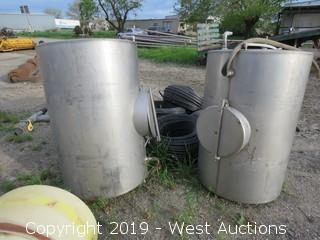 (2) 250 Gallon Stainless Steel Tanks