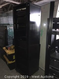 "Sanus Server Rack 23.5""x23.5""x84"" with Equipment"