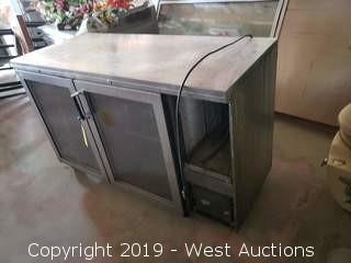 Perlick 2 Section Back Bar Cooler With Glass Doors