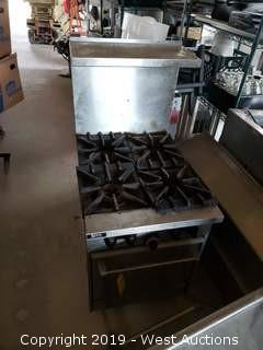 Garland Sunfire 4 Burner Restaurant Range with Oven