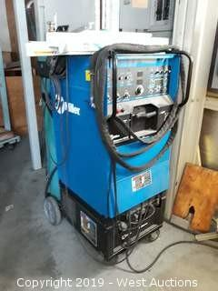 Miller Syncrowave 350 LX Welding Power Source With Tig Cart, Bottles And Accessories