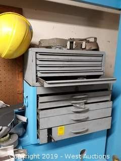 (2) Tool Boxes with Drill Bits/ Tooling
