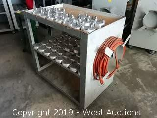 Custom Utility Cart With Pressure Steam Vessel Parts