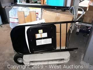 Bulk Lot: Folding Table, Dolly, Boxes Of Parts, Water