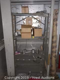 6' Steel Rack With Assorted Steel Parts