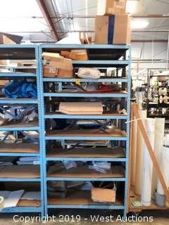 6' Steel Shelf Rack With Assorted Hardware, Motors