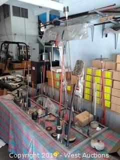Air Tool Organizer With Air Tools