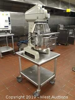 Globe SP20 Commercial Mixer With Accessories And Stainless Portable Table