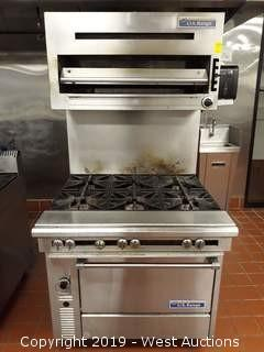 "U.S. Range C836-6 36"" Heavy Duty 6 Burner Range With Standard Oven And Salamander Grill"