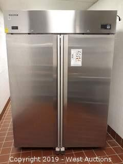 Hoshizaki CF2B-FS Two-Section Upright Stainless Steel Portsble Freezer