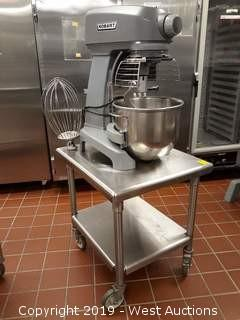 Hobart HL200 20 Quart Mixer With Portable Stainless Table And Accessories