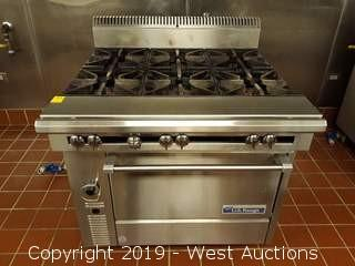 "U.S. Range C836-6RC 36"" 6 Burner Heavy Duty Range With Standard Oven"