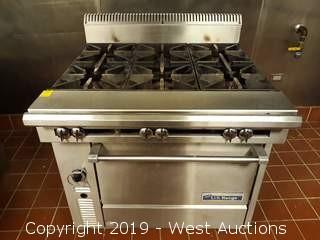 "U.S. Range C836-6 36"" 6 Burner Heavy Duty Range With Standard Oven"