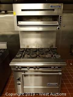 "U.S. Range C836-6 36"" 6 Burner Heavy Duty Range With Salamander Grill And Standard Oven"