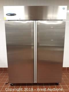 "Hoshizaki CF2S-FS 55"" Commercial Series 2 Section Upright Freezer"