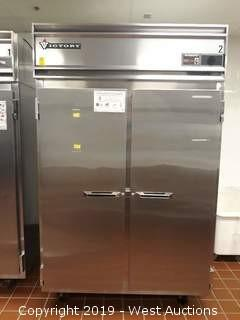 Victory RSA-2D-S7 Two Section Reach In Stainless Refrigerator