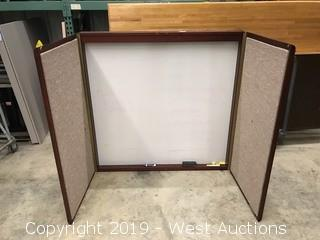 "White Presentation Board in Cabinet 48"" x 48"" x 3"""