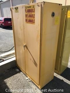 "Flammable Liquid Storage Cabinet 43""x18""x66"""