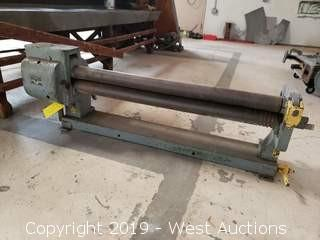 "Peck, Stow And Wilcox Model 390-E 36"" x 16 Guage Manual Plate Bending Roller"