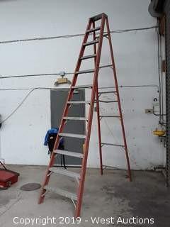 12' Fiberglass Folding Ladder