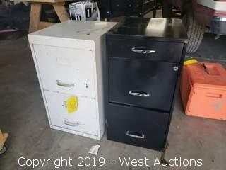 "(2) Filing Cabinets 15"" x 17"" x 25"""