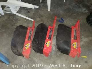 "(3)  Gravely X-Factor Deck Mower Discharge Chutes 24"" - 27"""