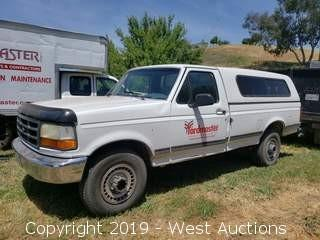 1994 Ford F-250 XL Pickup Truck with Camper Shell