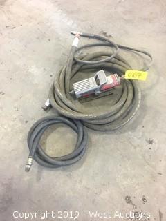 Blackhawk Hydraulic Foot Pump And Hoses