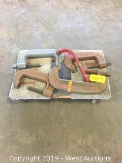 (4) Heavy Duty Bridge Clamps