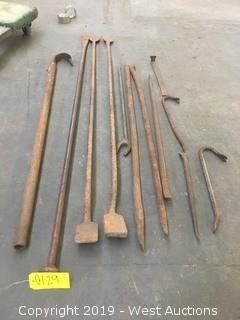 (12) Assorted Prybar Kit