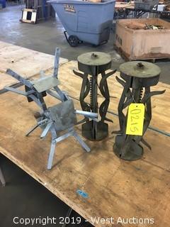 (3) Metal Cable Reels