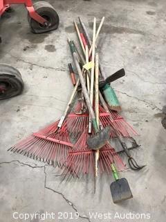 Tools; Rakes, Shears, Hoes