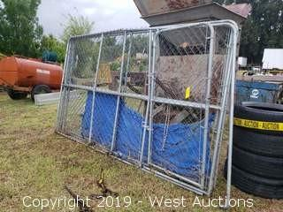 (4) 10'x6' Chain Link Fence Units