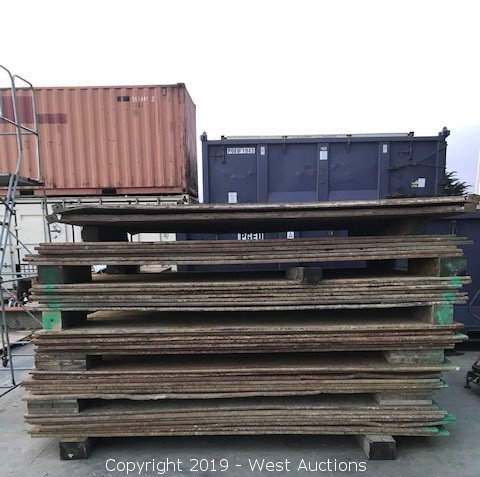 Online Auction of (60) Steel Trench Plates and (10) Rumble Plates in Eureka, CA