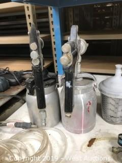 (6) Assorted Paint sprayers, Airbrush, Tubing, Misc Parts