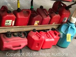 (11) Assorted Gas Cans