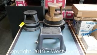 Assorted Stools And Table