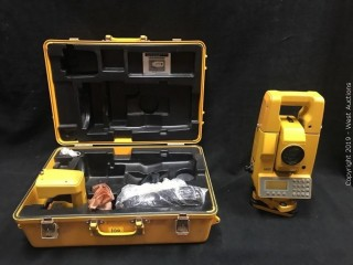 Topcon GTS-4 Electronic Total Station with Accessories And Carrying Case