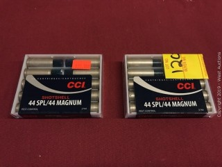 (2) CCI 44SPL/44Mag 9 Shot Shotshell