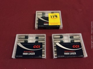 (3) CCI 9MM Luger 12 Shot Shotshell