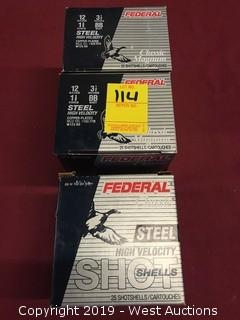 "(3) Federal Classic 12 x 3-1/2""  BB Shot Boxes"