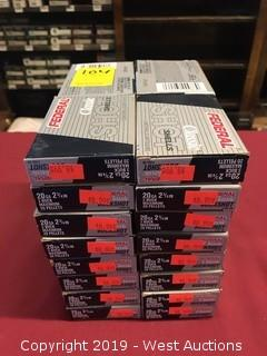 "(32) Federal 20 x 2-3/4"" 3 Buck Boxes"
