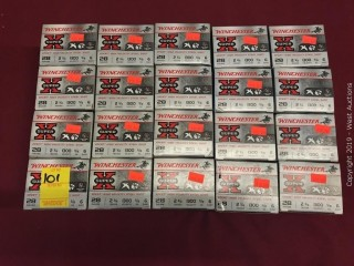 "(20) Winchester 28 x 2-3/4"" 6 Shot Boxes"