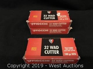 (3) Fiocchi 32 WAD Cutter Boxes